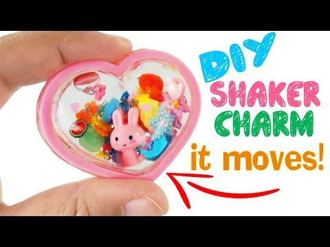 HOW TO MAKE CUTE DIY SHAKER CHARM craft Resin tutorial hero academia Parblo tablet graphic monitor