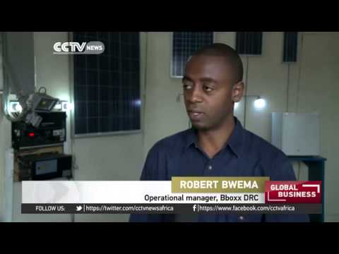 5535 economics energy CCTV Afrique Solar energy business booming in eastern DR Congo