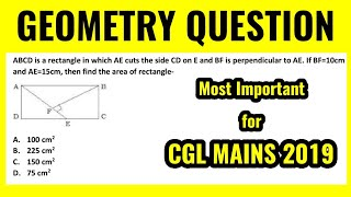 M.Imp Geometry Question for SSC CGL MAINS 2019 by Rohit Tripathi