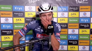 Mathieu van der Poel Overcome With Emotion After Tour de France Win