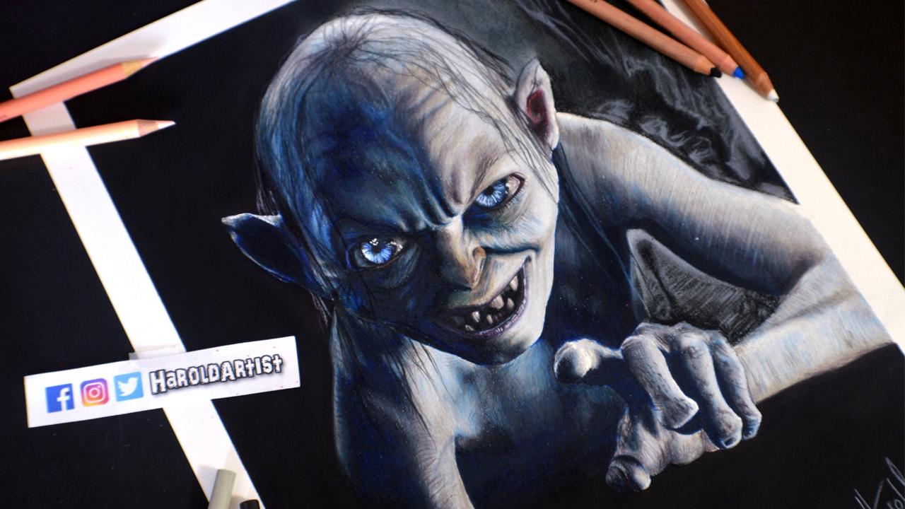 Dibujo de Gollum - Sméagol   Lord Of The Rings   Una deuda Pendiente ...