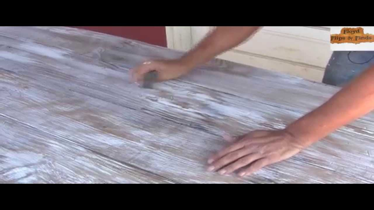 how to distress a table top