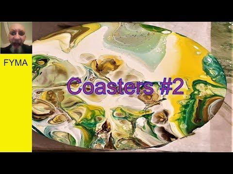 Fluid art pour how to 'coasters 2. By Stuart Wimbles ~ Free Your Mind Art