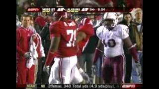 2008 Mississippi State vs. #1 Alabama Highlights