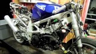 Starting Wrecked 2001 Suzuki TL1000S #64