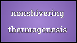 Nonshivering thermogenesis Meaning