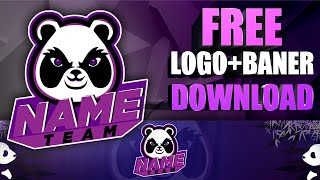 Free Professional YouTube Logo | Free youtube logo and banner template psd [ Panda logo ]#19