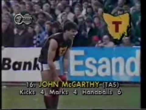 AFL / VFL State of Origin. Highlights of Tasmania v Victoria 1990 at North Hobart