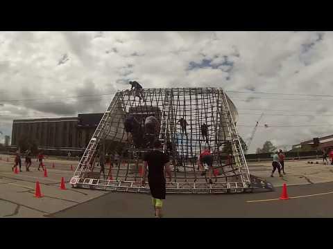 Lambeau Field Spartan Sprint 2017 (All Obstacles)