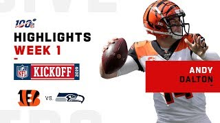 Andy Dalton Throws Up 418 Yds & 2 TDs | NFL 2019 Highlights
