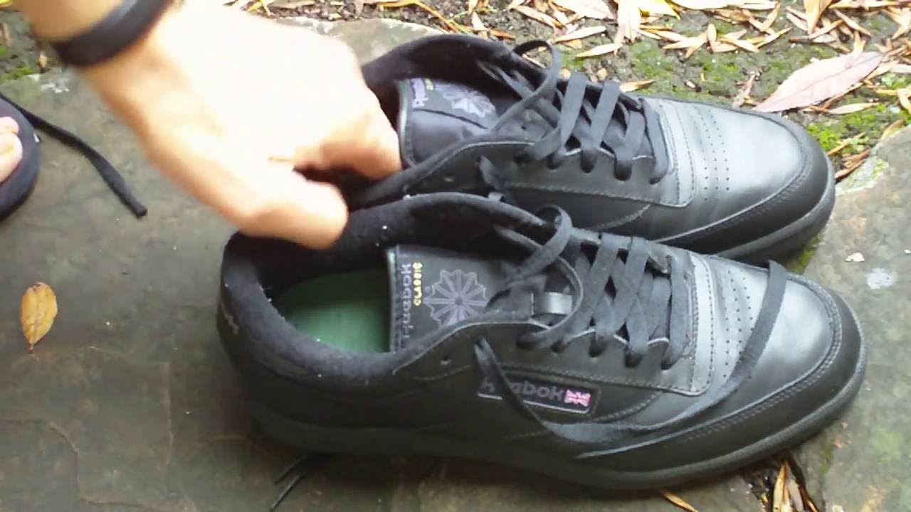 7326e64a4d4 Reebok Club C Classic Shoe Review -- Beware of Fake Leather - YouTube