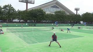 2017年 テニス男子シングルス 日大山形×東京学館新潟 1回戦 2