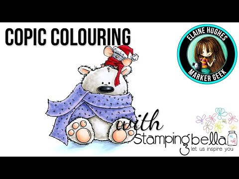 Copic Colouring Stamping Bella 2017: The Polar Bear & Mousie Stuffies rubber stamp