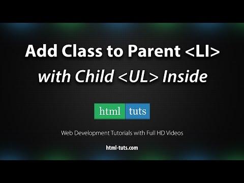 Add Class To Parent LI With Child UL Inside