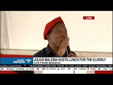 Malema woos the elderly in his home town[speech in Pedi]