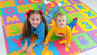 ABC Song Learn English Alphabet with Alicia and Alex