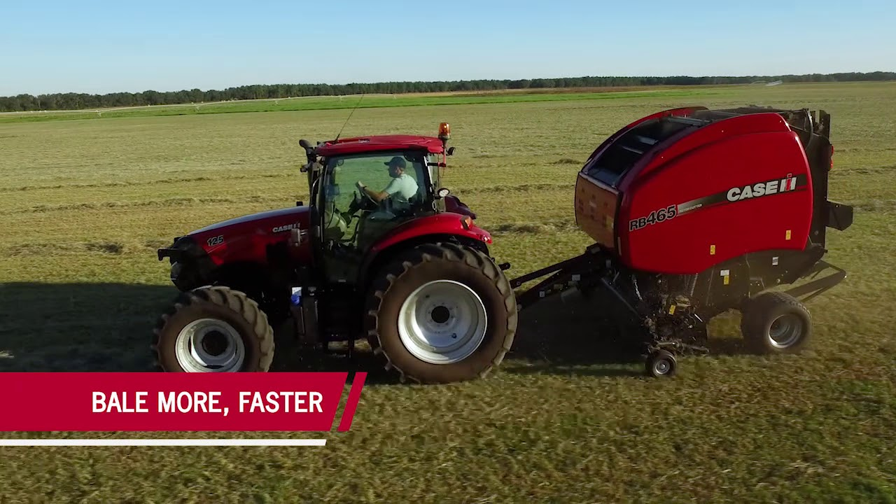Bale More Acres, Faster With Case IH Round Balers