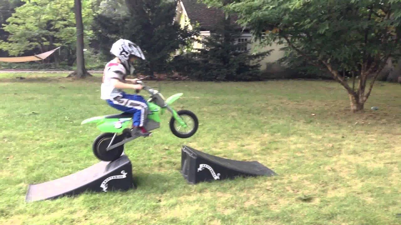 6 year old dirt bike rider - big jumps - YouTube