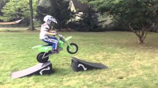 6 year old dirt bike rider - big jumps