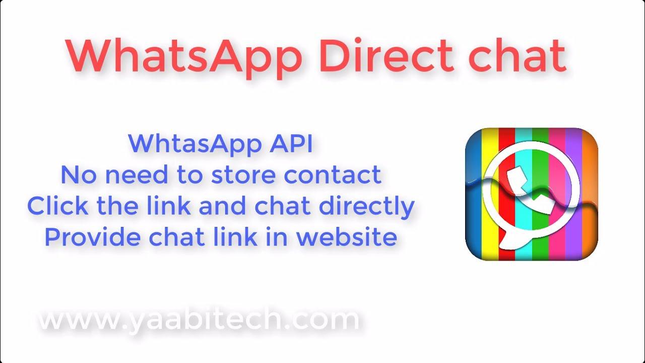 Whatsapp Direct Chat without saving contact - Whatsapp API Link | YAABITECH