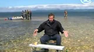 Устрицы под ногами. Сахалин. Les huîtres sous les pieds.