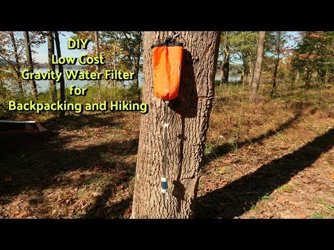 DIY Low Cost Gravity Water Filter for Hiking and Backpacking