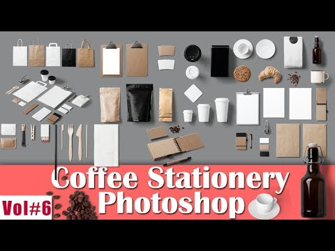 Coffee Stationery Component For Photoshop Vol#6 2018 [desimesikho]