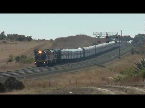 Great Southern Rail combined Indian Pacific & Overland passenger trains - PoathTV