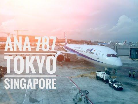 90€!! ANA BUSINESS CLASS NH841 B787-9 TOKYO HANEDA - SINGAPORE