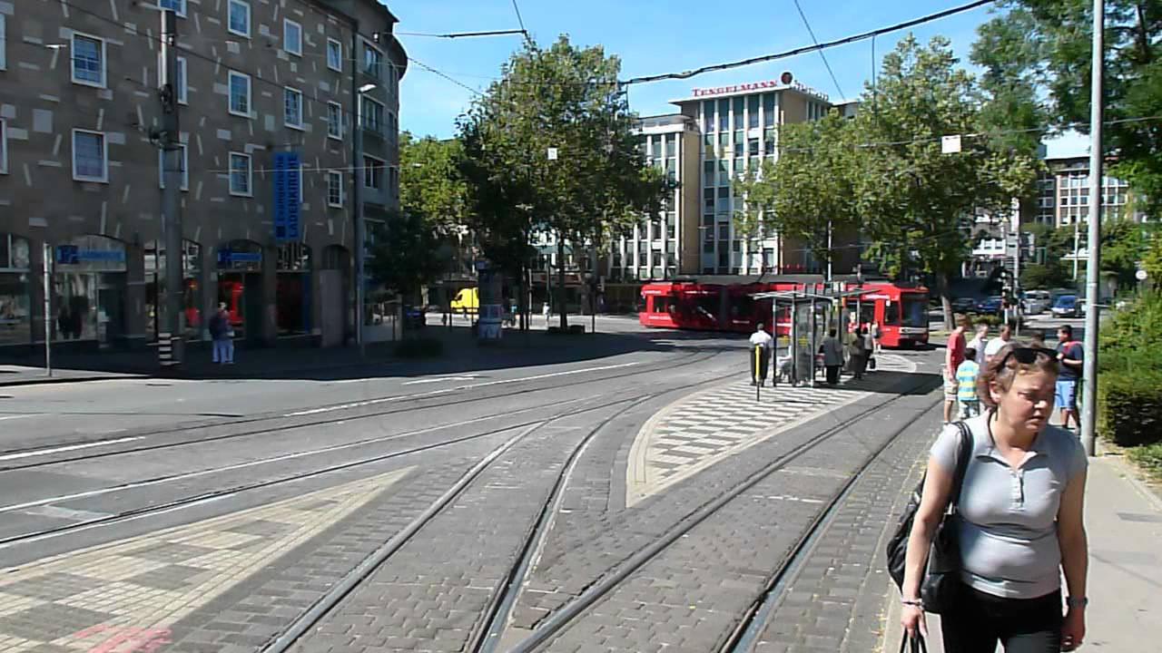 tram in m lheim on the ruhr germany youtube. Black Bedroom Furniture Sets. Home Design Ideas