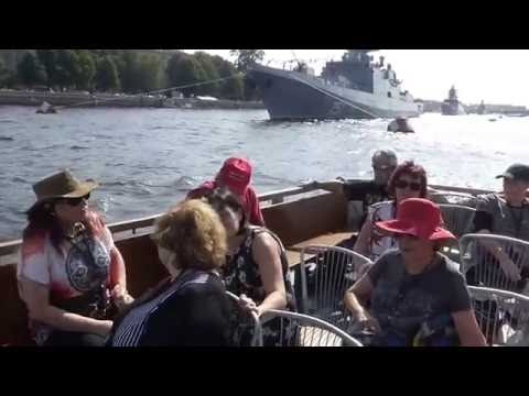 Boat Trip, in Neva River St. Petersburg, Russia.