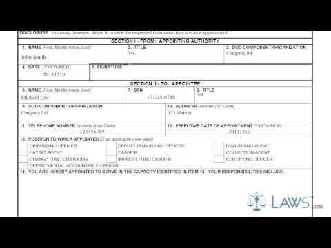 DD Form 577 - YouTube