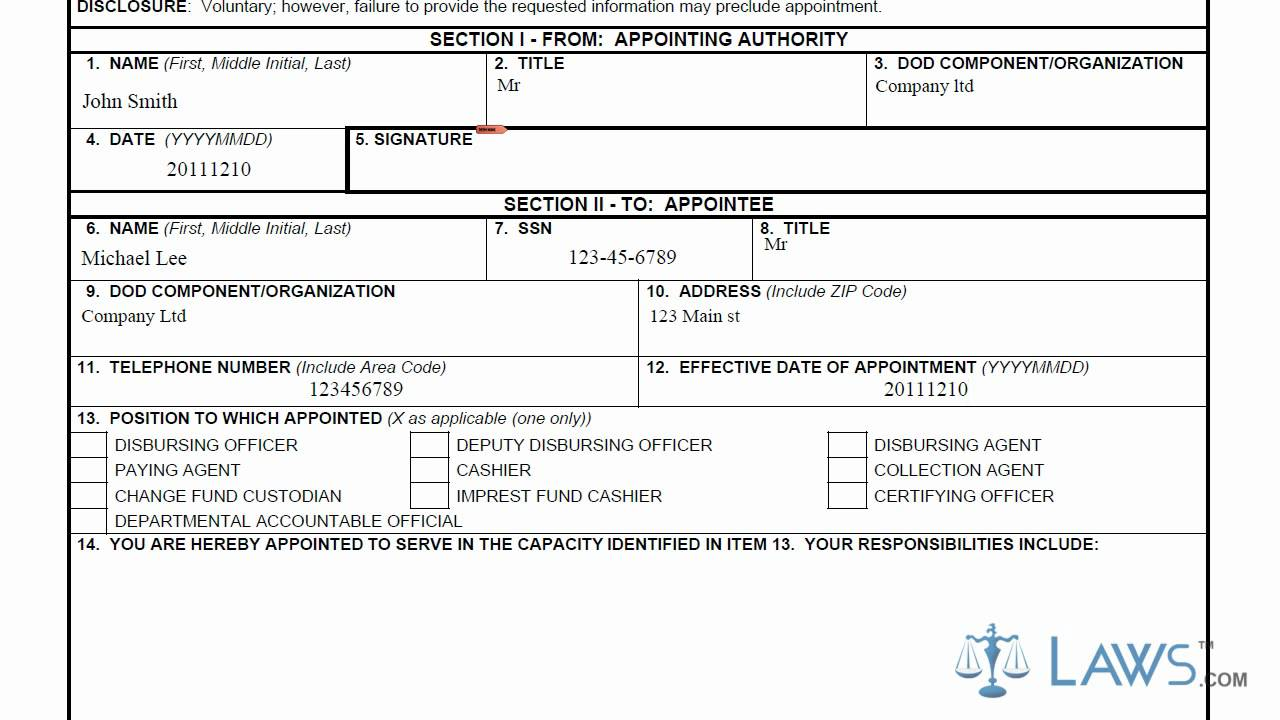 Learn How to Fill the DD Form 577 Appointment Termination Record – Dd Form