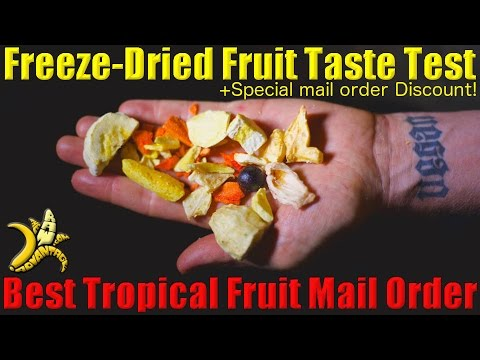 Tropical Fruit Taste Test | Best Freeze Dried and Fresh Tropical Fruit by Mail-order