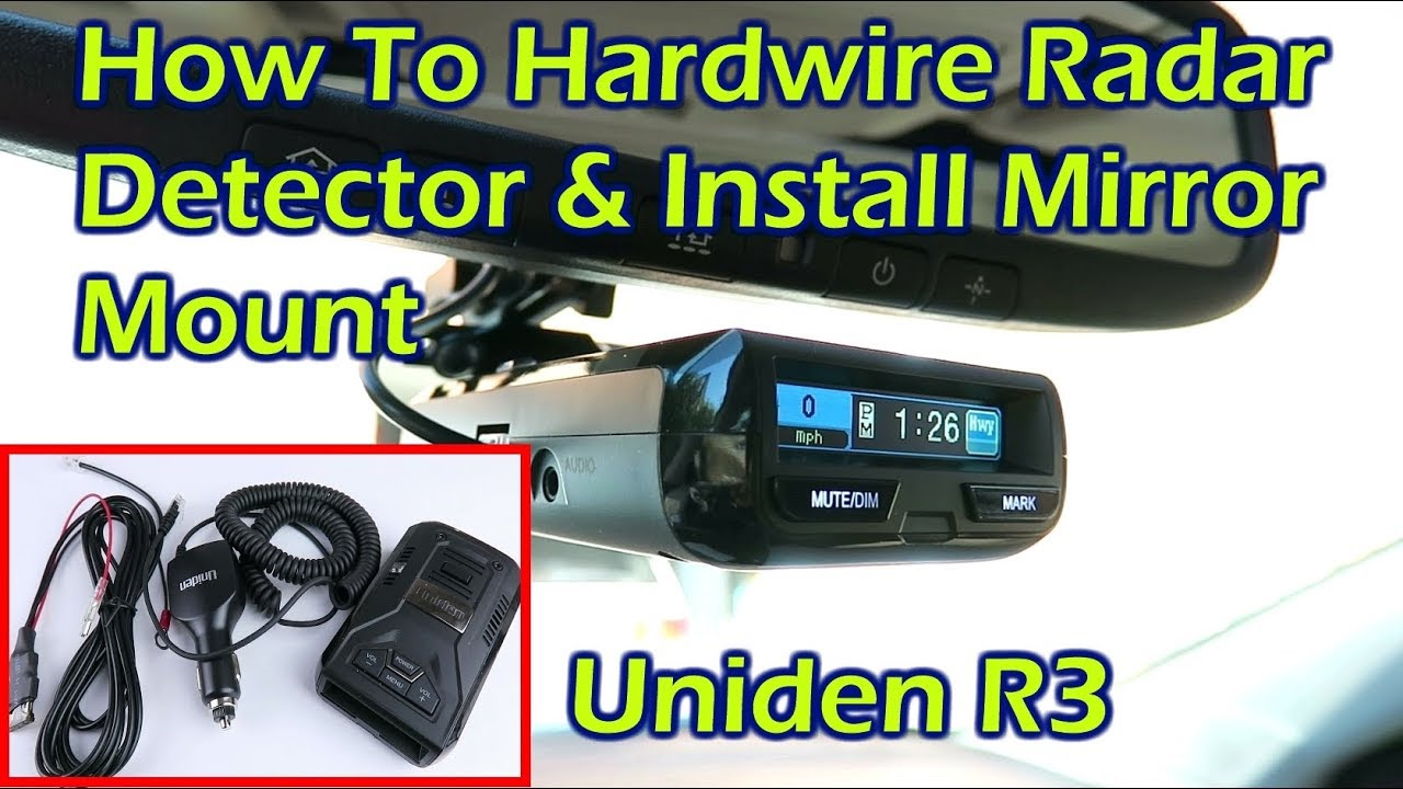 Install Hardwire Kit for Radar Detector & Mirror Mount - Uniden R3