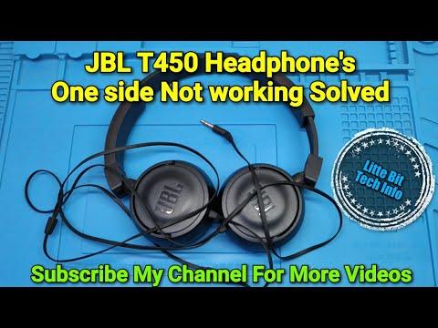 JBL T450 Headphone's One Side Not Working Solved   3.5mm Jack Repair