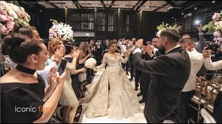 Glamorous wedding entry of bride and groom with Lebanese drums!