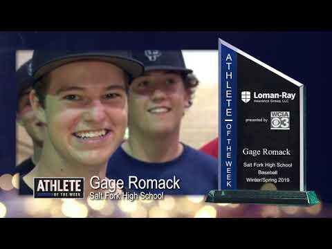 Athelete of the Week Gage Romack - Salt Fork High School Baseball
