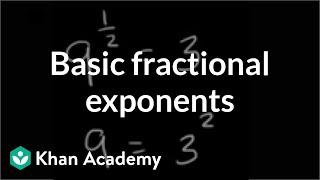 Basic fractional exponents | Exponent expressions and equations | Algebra I | Khan Academy