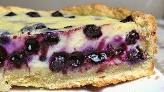 Пирог с голубикой | Рецепт заливного пирога с ягодами