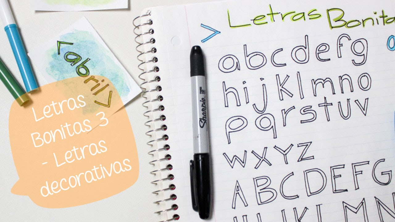 Escribe bonito con LETRAS DECORATIVAS 3// BigCrafts - YouTube