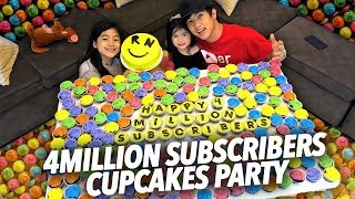 4 MILLION SUBS CUPCAKE PARTY | Ranz and Niana