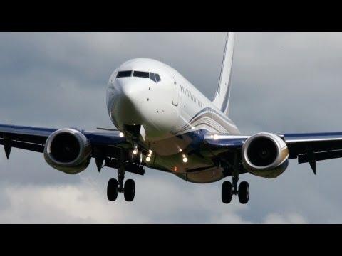 BBJ2 Boeing 737-8KT Landing at Bern Airport - Circling Approach!