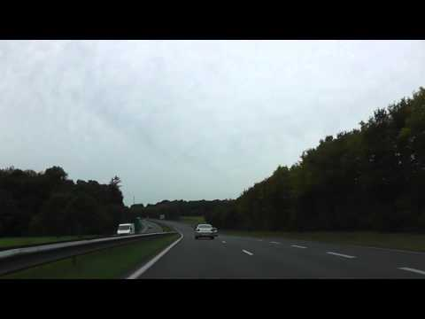 Driving On Route Nationale 12 From 22190 Plérin To 22200 Guingamp, France 24th October 2013