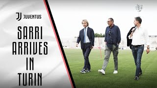 New Juventus coach, Maurizio Sarri arrives in Turin!