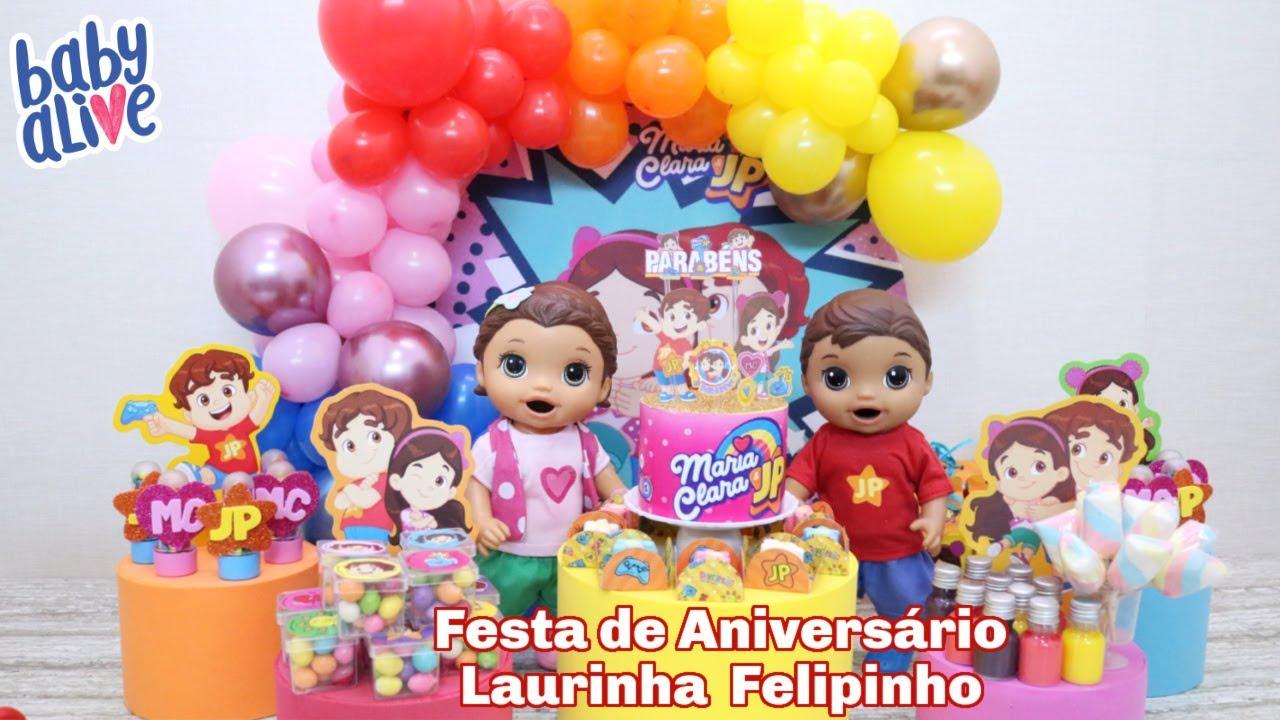 FESTA DE ANIVERSÁRIO DOS GÊMEOS LAURINHA E FELIPINHO COM O TEMA MARIA CLARA E JP