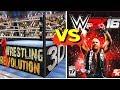WRESTLING REVOLUTION 3D Finishers VS WWE WWE 2K16 Finishers Comparison
