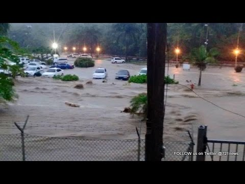 Tropical Storm Erika SMASHES Dominica - Look Out Sint Maarten!!