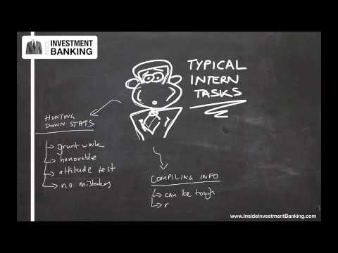 Common Investment Banking Intern Tasks