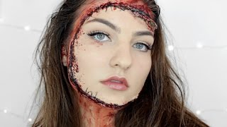 Stitched On Face | SFX Halloween Tutorial